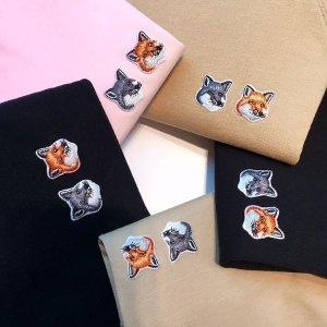 全场7.5折 €53收经典T恤Maison Kitsune 法式慵懒小狐狸 萌翻全场 收经典T恤、卫衣