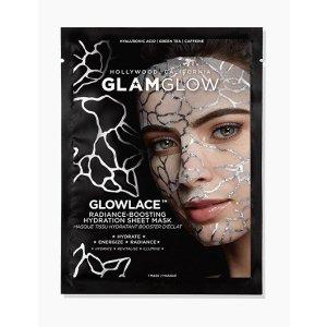 Glamglow任意单赠送1片GLOWLACE 蕾丝面膜