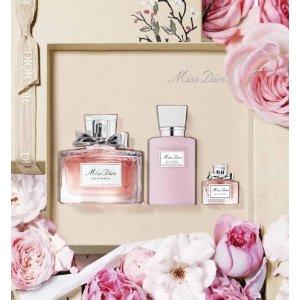 DiorMiss Dior Fragrance set - eau de parfum, body milk, fragrance miniature