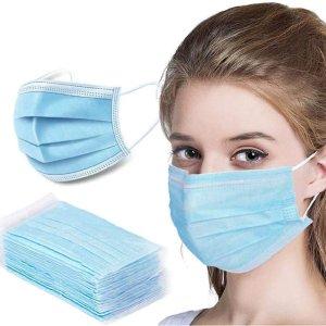 $27(原价$41.79)一次性三层防护口罩100个 做好防护 守护家人健康
