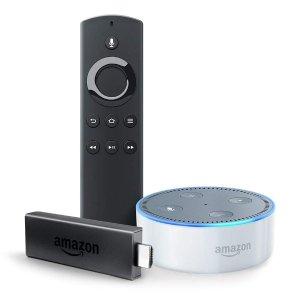$39.98 (原价$79.98)Fire TV Stick 电视棒 + Echo Dot 智能语音助手