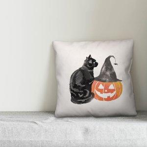 HouzzHalloween Cat And Pumpkin 16