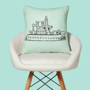 MONOPOLYShip Letterpress Square Cushion