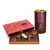 Godiva 黑巧克力饼干36块+黑巧克力可可粉套装