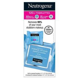 $14.99+免邮Neutrogena 卸妆巾120抽装热卖 便携清爽卸妆
