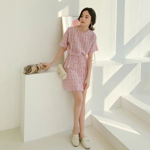 Tweed Top and Mini Skirt Two-Piece Set