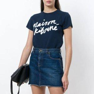 Maison Kitsune100%棉logo印花T恤