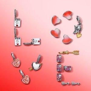 串珠$30起+免邮上新:Pandora 限量版情人节系列上市 用爱串满手链