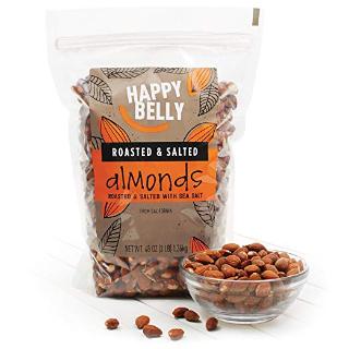 现价$9.34(原价$16.99)HAPPY BELLY  盐焗口味加州大杏仁 3磅