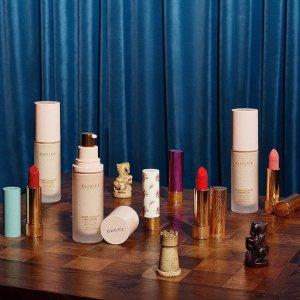低至8折 新款口红$33.6收最后一天:Gucci 彩妆香氛热卖 收丝润底妆系列 春季氛围妆必备