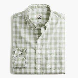 牛油果绿 格纹衬衣