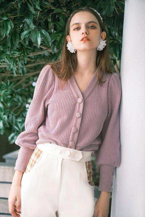 Celia针织开衫- Lavender