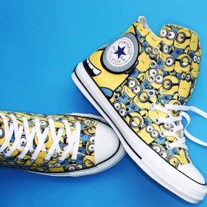 低至$43.8 / RMB294CONVERSE ALL STAR 100 HI 小黄人联名 百年限定鞋 特价