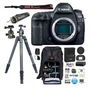 Canon EOS 5D Mark III DSLR相机机身 + Vanguard Veo2三脚架及背包