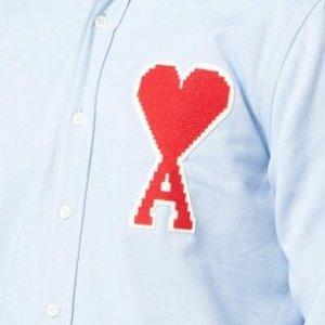 下单1件8折+最高£30税补优惠券Ami 明星最爱潮牌 收logo款男士衬衫、卫衣