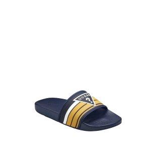 Emorel Striped Slide Sandals at Guess