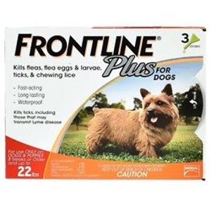 FrontlinePlus 小型犬狗狗体外驱虫剂 3剂