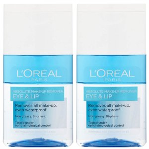 每瓶125ml仅€4.9!两瓶装的神仙套装L'Oréal 欧莱雅 温和眼唇卸妆液 镇定 舒缓 清爽 洁净收缩毛孔
