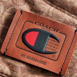 4折+满赠手包+免邮Coach x Champion 联名系列 T恤$46 抓绒外套$170