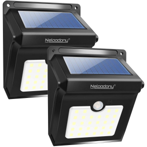 $11.99(原价$24.99)手慢无:Neloodony 太阳能户外防水超亮感应灯2个装