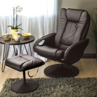 Best Choice Products 电动按摩躺椅 带脚凳 棕色