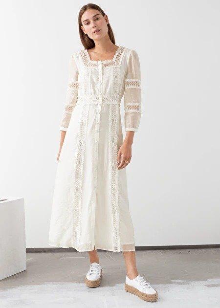 白色蕾丝裙