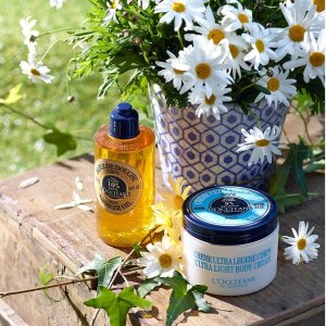 Labor Day Sale! Receive a free handcream setwith $95+ purchase and a bonus gift with $200+ purchase @ L'Occitane