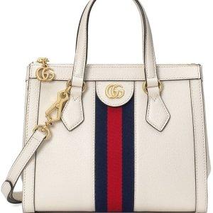 仅$1039.99(美国官网价$2300)Gucci Ophidia小号白色托特包 变相4.7折