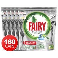 Fairy 5 x 32pk Fairy Platinum All-In-One 洗洁精球 洗碗机用