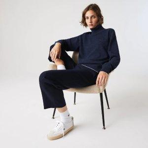 Lacoste高领纯羊毛衣