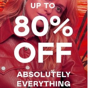 Up to 80% OffClothing Sale @Nasty Gal