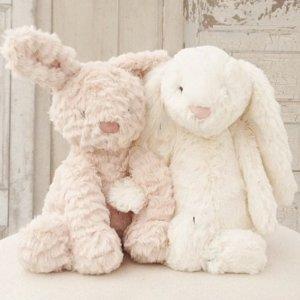 限时精选8折+额外9折 £7.2起即将截止:Jellycat 毛绒玩具热卖 软软的萌兔子