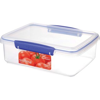 $4.90Sistema 1700 Klip It Collection Rectangle Food Storage Container, 2 Liter