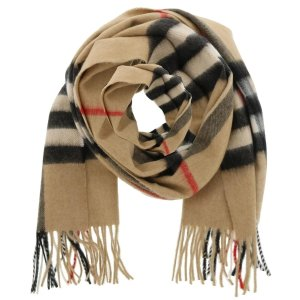BurberryChecked Print Fringed Scarf