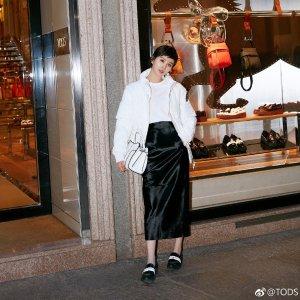Tod's刘诗诗同款 官网定价$595厚底乐福鞋