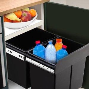 团购价$59 节省空间Groupon 内置两箱分类垃圾桶 15L\20L
