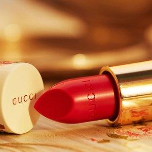 无门槛9折 £30收碎花口红Gucci 复古口红,经典香氛夏日特卖