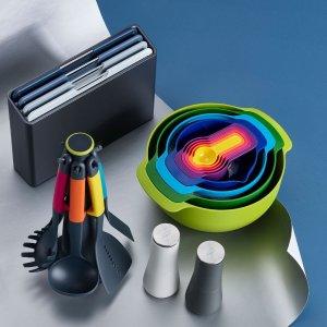 4折起 彩虹碗9件套€39.99Joseph Joseph 厨房好物限时促 有沥水盘、分类菜板、收纳等