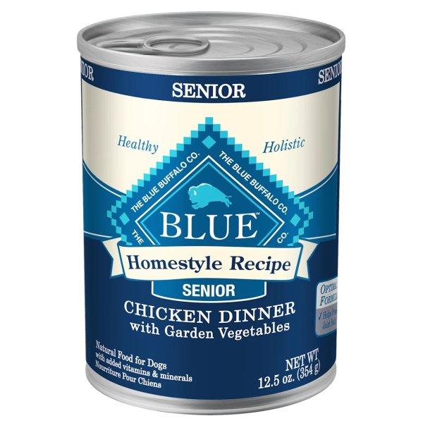 Blue Homestyle Recipe 老年犬湿粮12罐