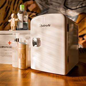 折后€38起 放护肤品超合适AstroAI 便携式迷你小冰箱热卖 制冷保温二合一