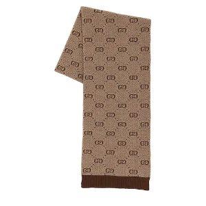 Gucci大童冬季必备惊现 羊毛围巾、羊绒帽子、双G皮带等