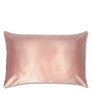 粉色真丝枕套