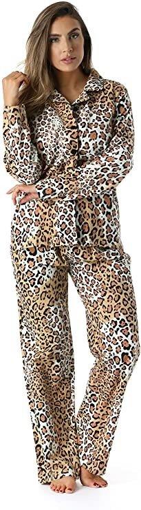 豹纹睡衣套装