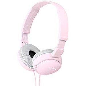 $12.25 (原价$14.99)Sony MDR-ZX110-P 可折叠便携式耳机 粉色