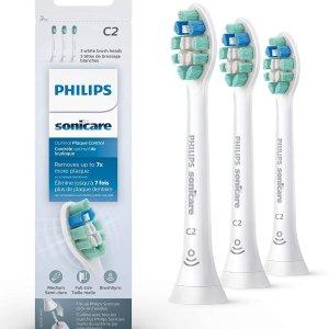 $28.35(原价$31.95)Philips 飞利浦 原装电动牙刷替换刷头3支装 HX9023/92可用