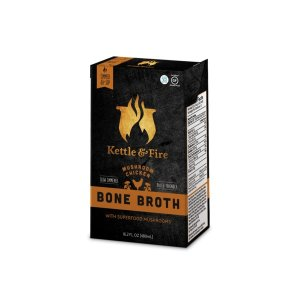 2 PacksMushroom Chicken Bone Broth - 16.2oz