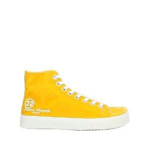 Maison Margiela淡黄色分趾帆布鞋