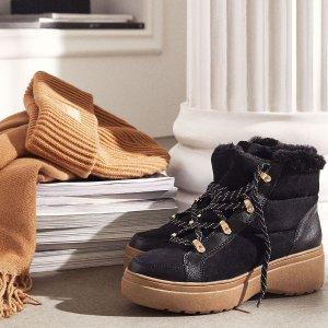 低至3折 €37.99收封面款厚底毛靴H&M 年末换季大促 冬季保暖大衣皮靴备起来