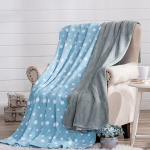 Mainstays Polka Dot Fleece Throw Blanket, 50