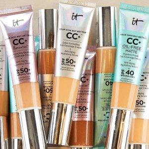 全场8折+满$65送面霜中样延长一天:It Cosmetics 护肤美妆产品热卖 收眼下遮瑕、CC霜